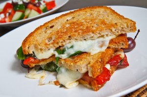 Marinated Roasted Red Pepper and Goat Cheese Grilled Cheese Sandwich 500 4422
